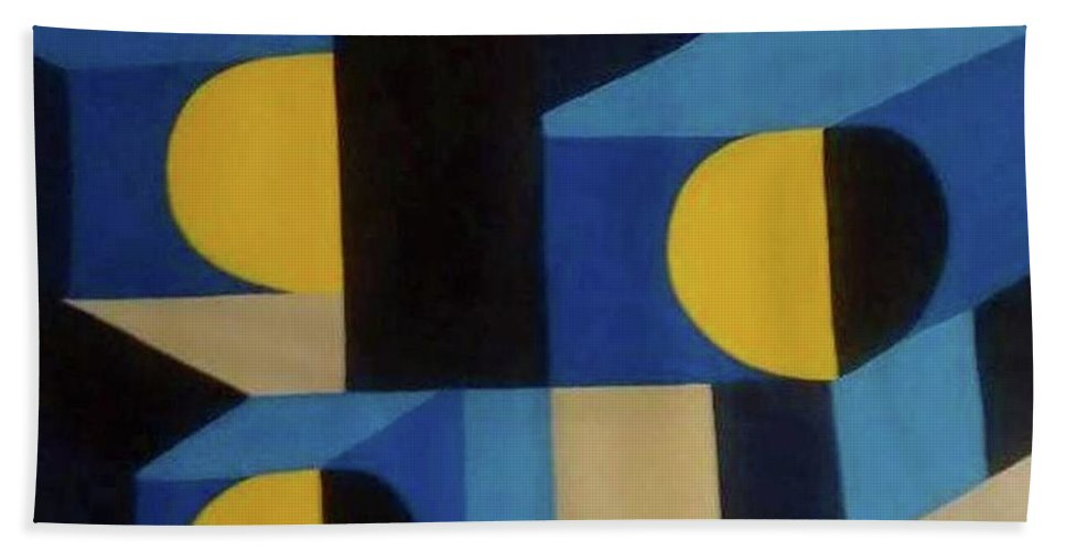 Wall Art Beach Towel featuring the painting Feliz Cumpleanos - Happy Birthday by Thomas Walters