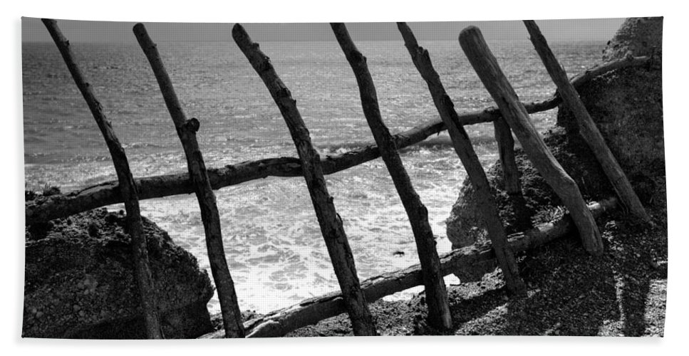 Atlantic Ocean Beach Towel featuring the photograph Fence by Gaspar Avila