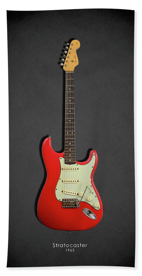 Fender Stratocaster Beach Towel Featuring The Photograph 63 By Mark Rogan