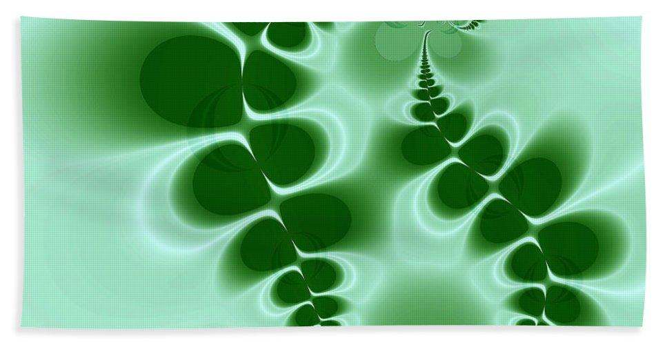 Digital Art Beach Towel featuring the digital art Ferns by Amanda Moore