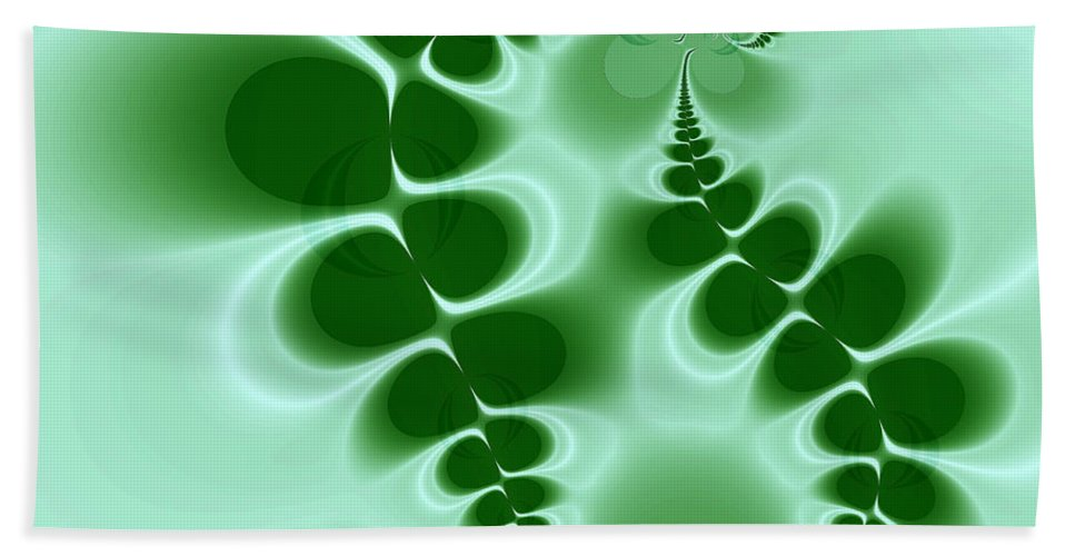 Digital Art Beach Sheet featuring the digital art Ferns by Amanda Moore