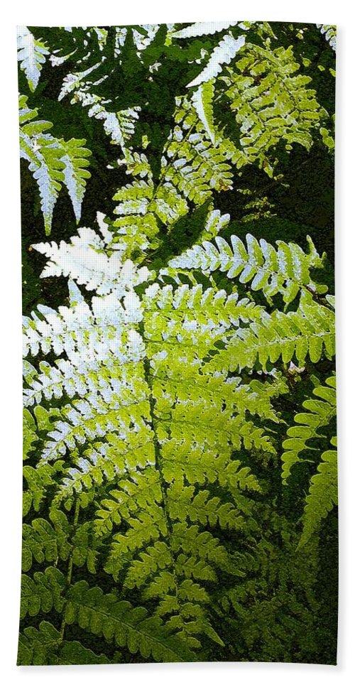 Ferns Beach Sheet featuring the photograph Ferns by Nelson Strong