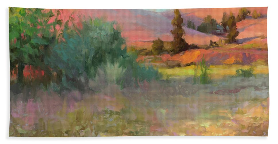 Country Beach Towel featuring the painting Field Of Dreams by Steve Henderson
