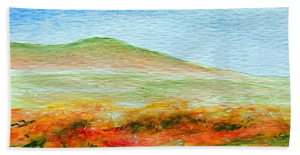 Poppy Beach Towel featuring the painting Field Of Poppies by Jamie Frier
