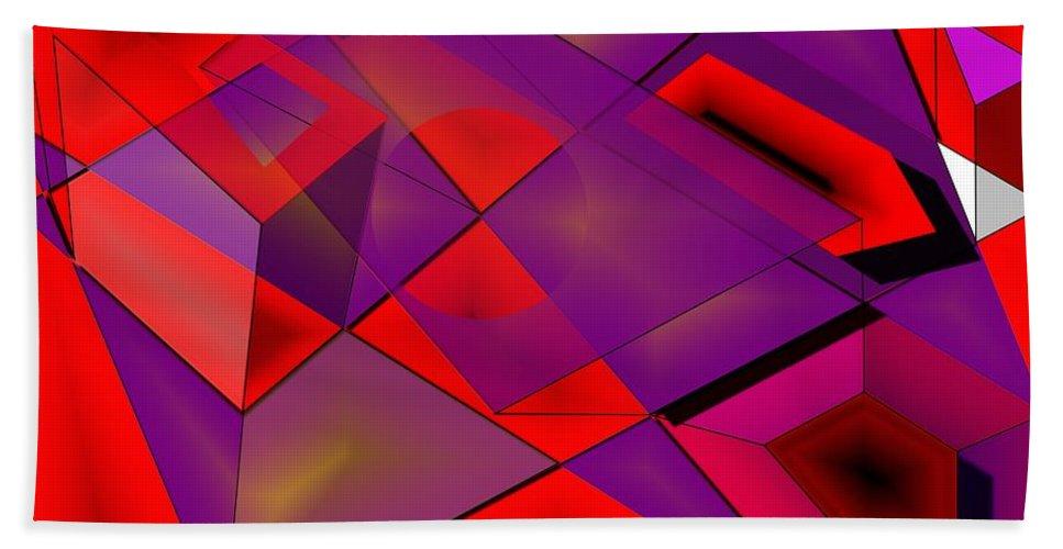 Fields Beach Towel featuring the digital art Fieldexperiments by Helmut Rottler