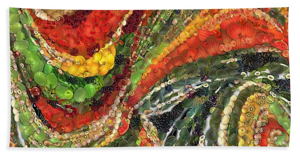 Fiesta Mexicana Beach Towel featuring the painting Fiesta Mexicana by Dragica Micki Fortuna