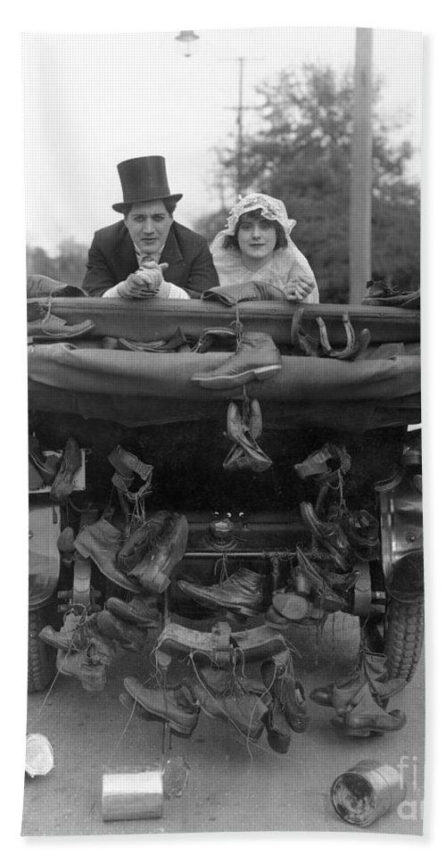 -weddings & Gowns- Beach Towel featuring the photograph Film Still Wedding by Granger