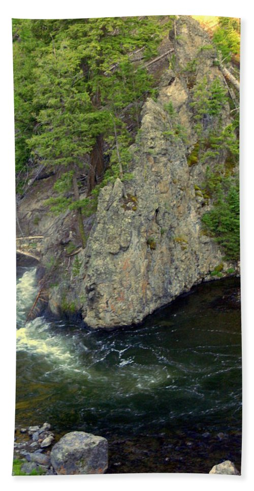 Firehole River Beach Towel featuring the photograph Fin On The Firehole by Marty Koch
