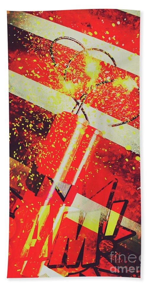 Meltdown Beach Towel featuring the digital art Financial Meltdown Coming Soon by Jorgo Photography - Wall Art Gallery