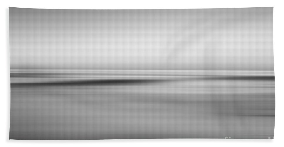 Black And White Beach Towel featuring the photograph Finding Bliss Abstract Seascape Bw by Michael Ver Sprill