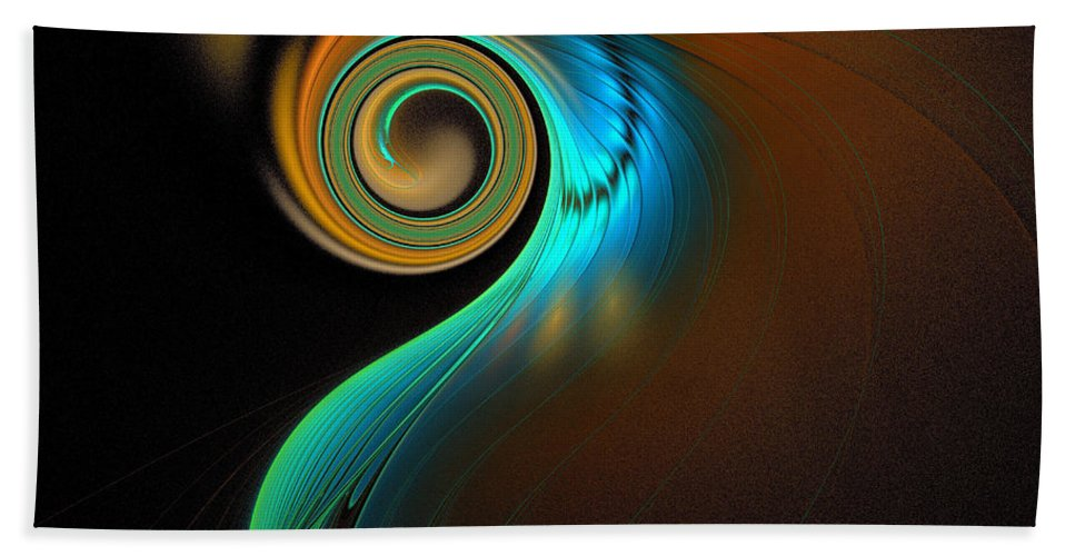 Digital Art Beach Towel featuring the digital art Fine Feathers by Amanda Moore
