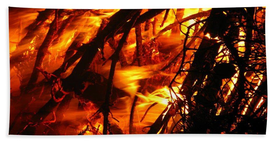 Robert Frost Beach Towel featuring the photograph Fire And Ice by Brittany Horton