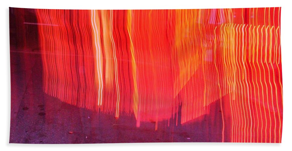 Photograph Beach Towel featuring the photograph Fire Fence by Thomas Valentine