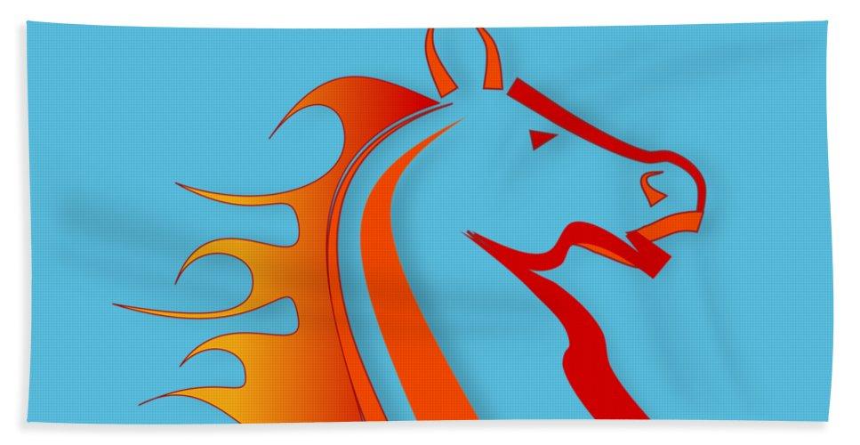 Horse Beach Towel featuring the digital art Fire Horse by Scott Davis