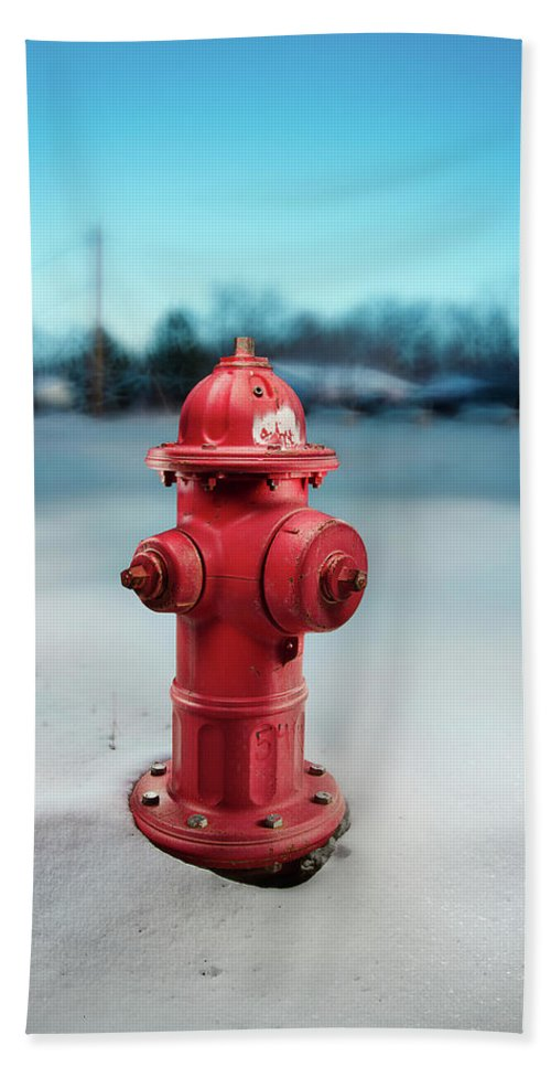 Exterior Beach Towel featuring the photograph Fire Hydrant by Yo Pedro