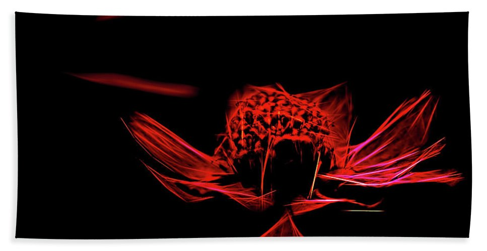 Abstract Beach Towel featuring the photograph Fire In Abstract by Kay Brewer