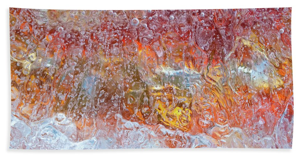 Abstract Beach Towel featuring the photograph Fire Inside by Shannon Workman