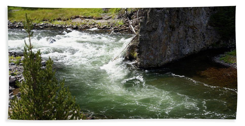 Yellowstone National Park Beach Towel featuring the photograph Firehole Canyon 1 by Marty Koch