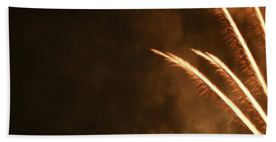 Fireworks Beach Towel featuring the photograph Fireworks As Art Two by Kenneth Summers