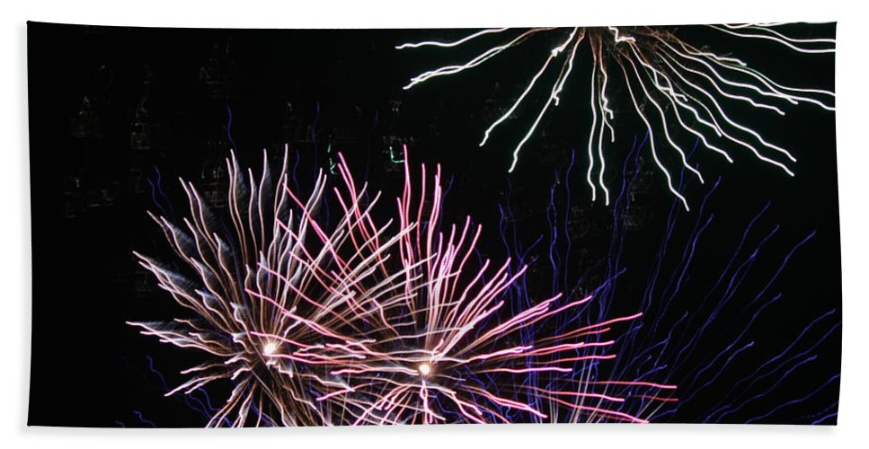 Fireworks Beach Towel featuring the photograph Fireworks by Cinneidi Comfort