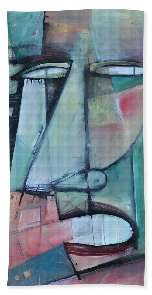 Face Beach Sheet featuring the painting First Day North Of The Tension Line by Tim Nyberg