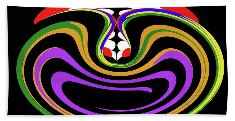 First Move Abstract Beach Towel featuring the digital art First Move Abstract by Tom Janca