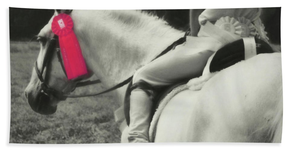 Horse Beach Sheet featuring the photograph First Show Red by JAMART Photography