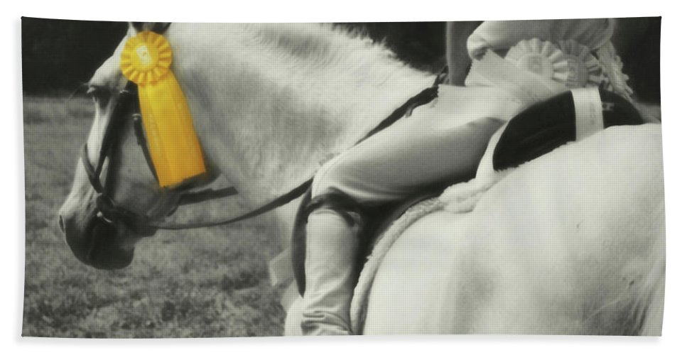 Horse Beach Sheet featuring the photograph First Show Yellow by JAMART Photography