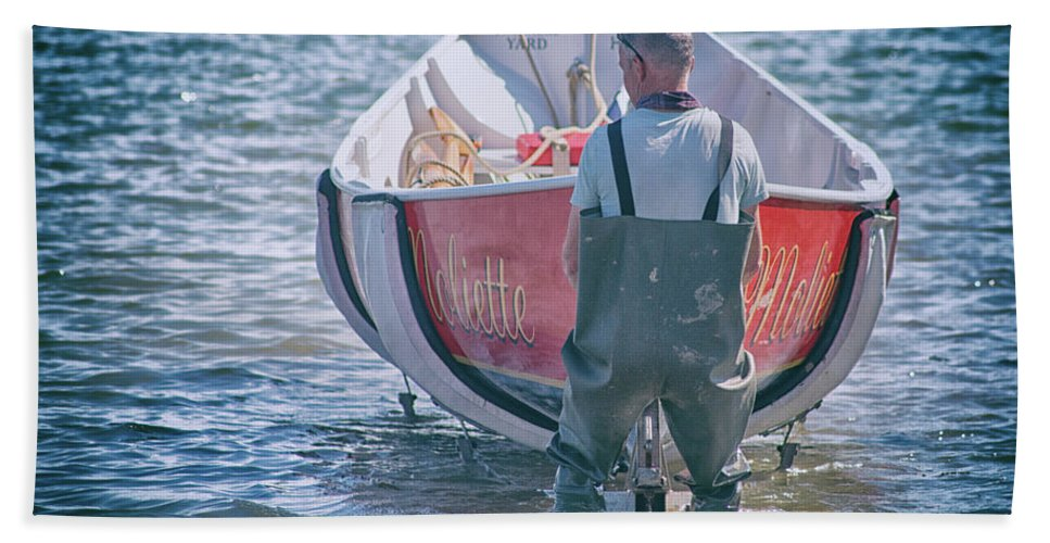 Fisherman Beach Towel featuring the photograph Fisherman by Martin Newman