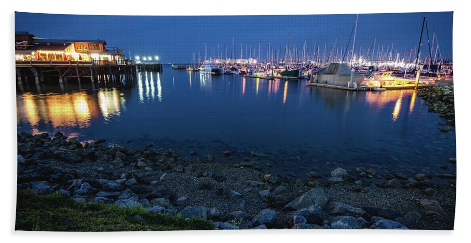 Landscape Beach Towel featuring the photograph Fisherman's Wharf by Margaret Pitcher