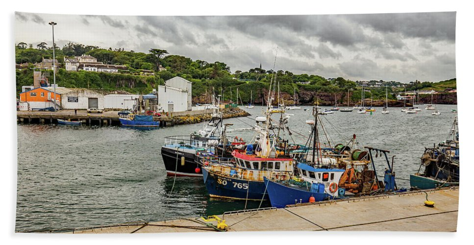 Fishing Beach Towel featuring the photograph Fishing Boats by Ed James