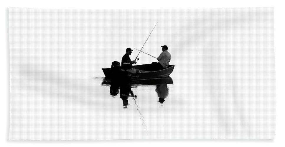 Fine Art Photography Beach Towel featuring the photograph Fishing Buddies by David Lee Thompson