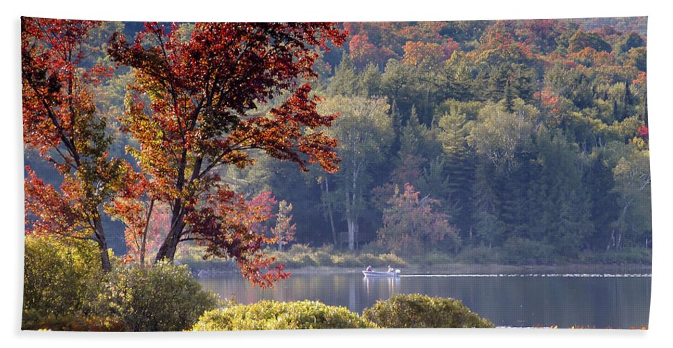 Adirondack Mountains Beach Towel featuring the photograph Fishing The Adirondacks by David Lee Thompson