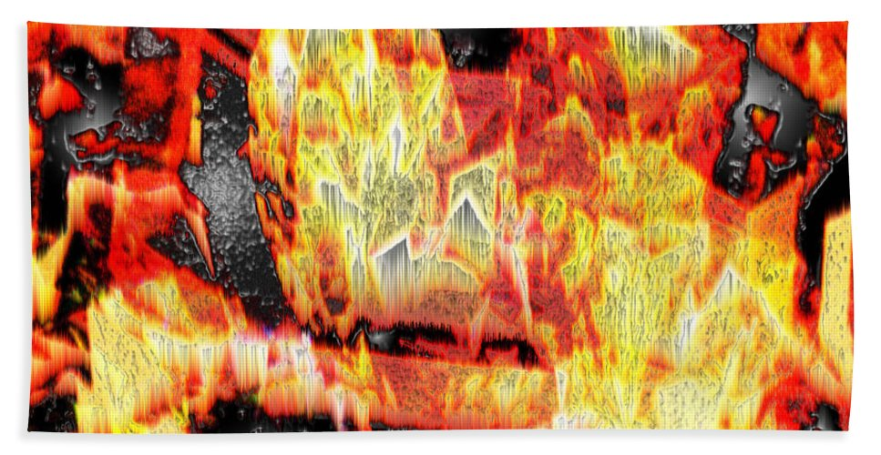 Abstract Beach Towel featuring the photograph Flame Gems by Seth Weaver