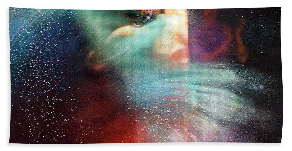 Flamenco Beach Towel featuring the painting Flamencoscape 02 by Miki De Goodaboom