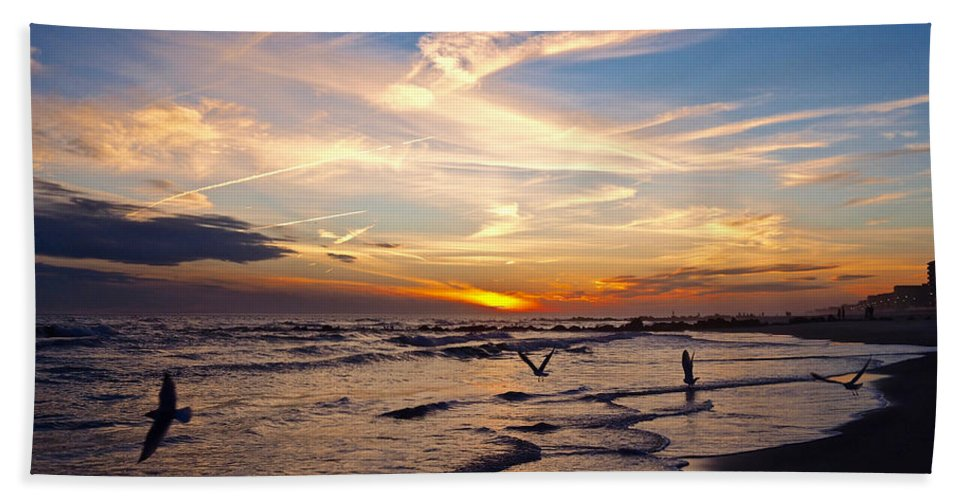 Long Beach Towel featuring the photograph Flight Patterns by Patrick Byrnes