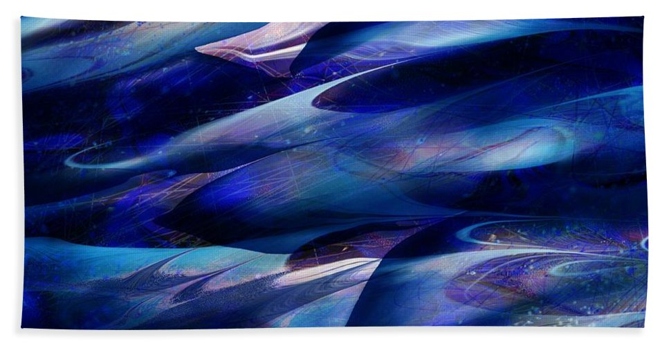 Abstract Beach Towel featuring the digital art Flight by William Russell Nowicki