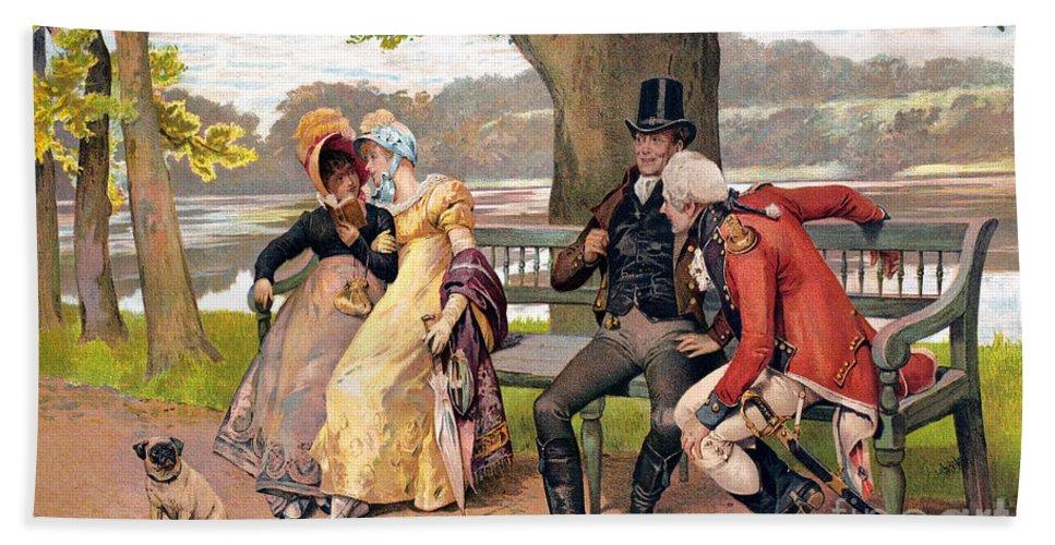 19th Century Beach Towel featuring the photograph Flirtation, C1810 by Granger