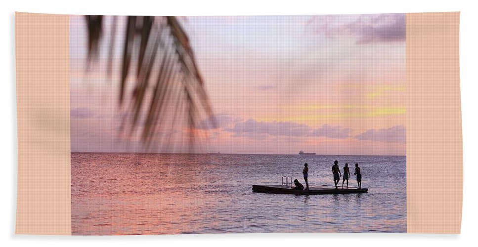Landscape Beach Towel featuring the photograph Floating Dream by Lucas Van Es