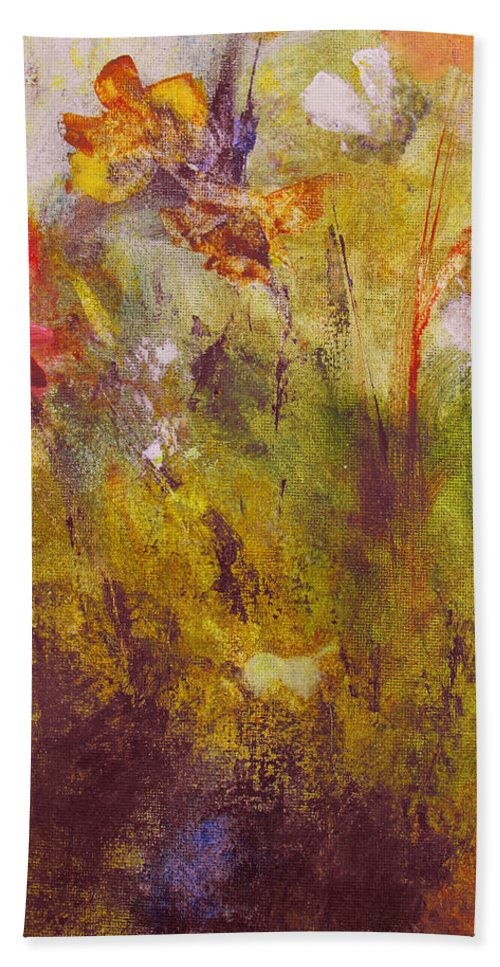 Botanical Beach Towel featuring the painting Flora by Ruth Palmer
