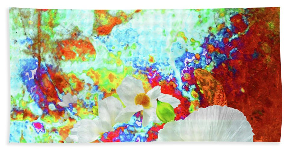Floral Beach Towel featuring the digital art Flora by Yvonne Beatty