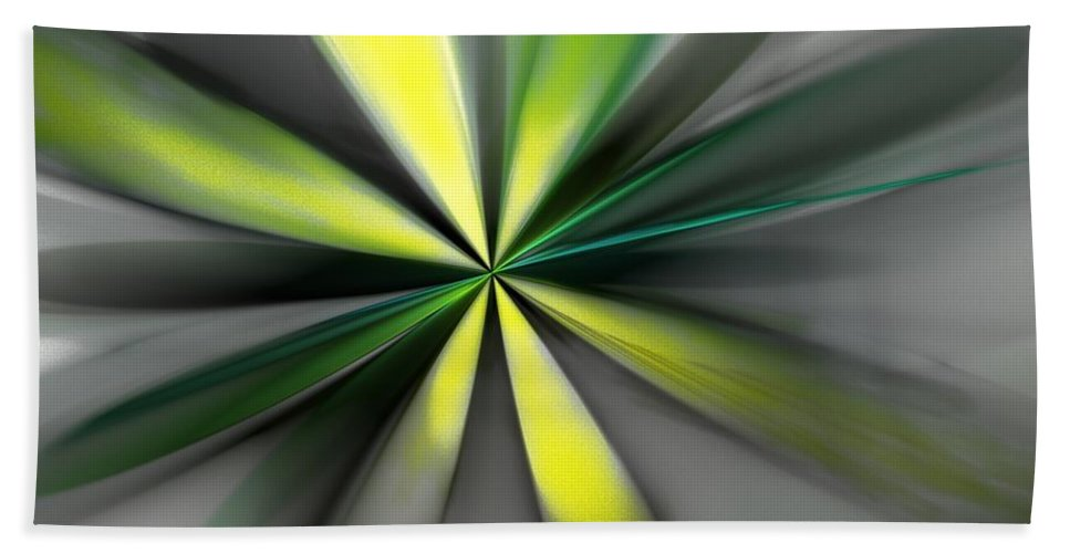 Digital Painting Beach Towel featuring the digital art Floral 2-19-19 by David Lane