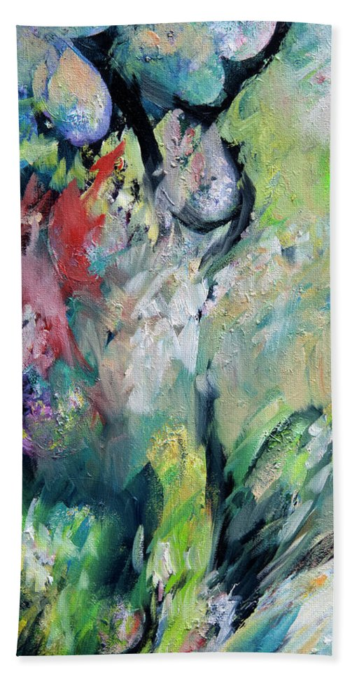 Floral Beach Towel featuring the painting Floral Enchantment by William Russell Nowicki