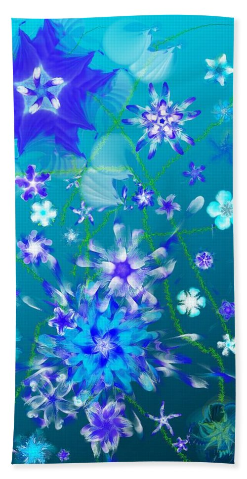 Floral Beach Towel featuring the digital art Floral fantasy 121910 by David Lane