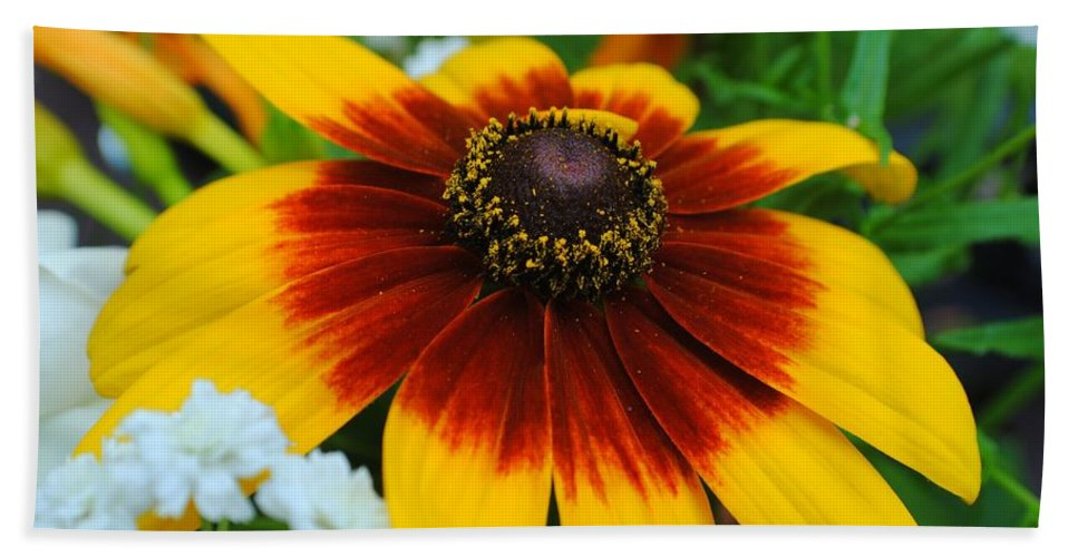 Floral Beach Towel featuring the photograph Floral Fantasy by Frozen in Time Fine Art Photography