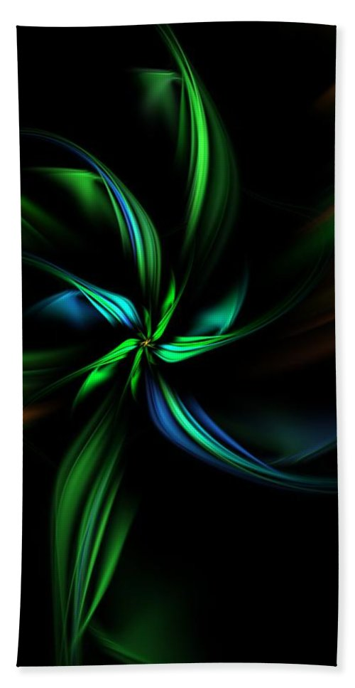 Digital Painting Beach Towel featuring the digital art Floral Fractal 040710 by David Lane