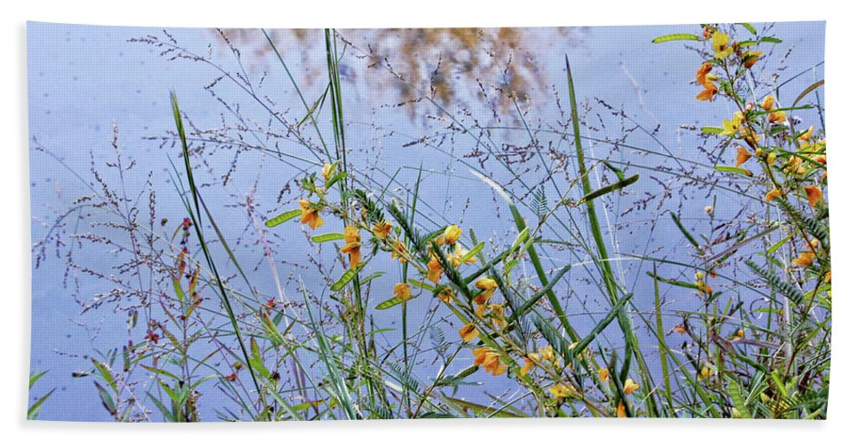 Nobob Beach Towel featuring the photograph Floral Pond by Amber Flowers