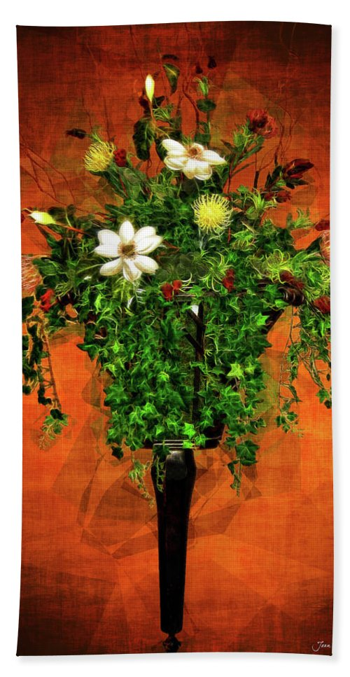 Floral Beach Towel featuring the photograph Floral Wall Arrangement by Joan Minchak