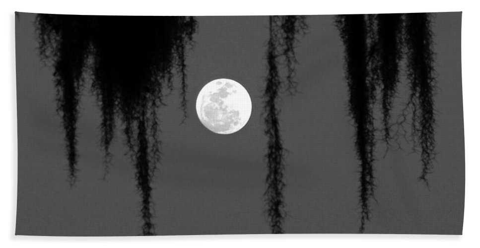 Nature Beach Towel featuring the photograph Florida Moon by Peg Urban