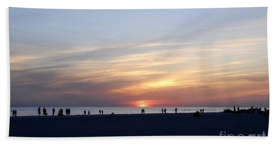 Florida Beach Towel featuring the photograph Florida Sunset by David Lee Thompson